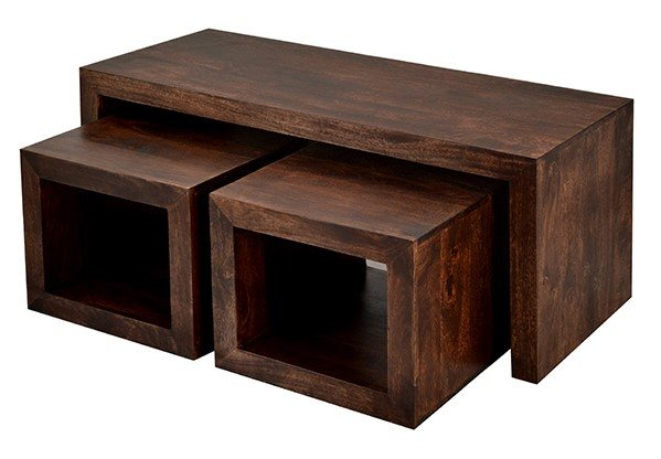 Cubed John Long Coffee Table Dark Mango Wood Home In But what makes this wood sustainable is that it is the byproduct of mango fruit. toko cubed john long coffee table dark mango wood