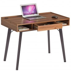 Trigger Compact Desk With Drawer - Brown Oak