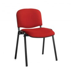 Nodin Padded Stackable Conference Chair - Burgundy