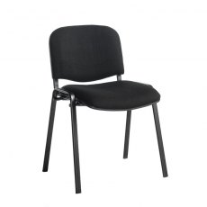 Nodin Padded Stackable Conference Chair - Black