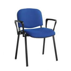 Nodin Plus Padded Conference Chair With Arms - Blue