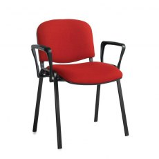 Nodin Plus Padded Conference Chair With Arms - Burgundy