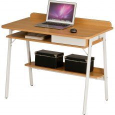 Weever Laptop Desk With Drawer And Lower Shelf
