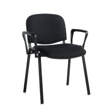 Nodin Plus Padded Conference Chair With Arms - Charcoal