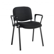 Nodin Plus Padded Conference Chair With Arms - Black