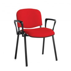 Nodin Plus Padded Conference Chair With Arms - Red
