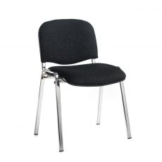 Nordin Shine Conference Chair With Chrome Legs - Charcoal