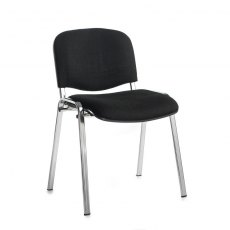 Nordin Shine Conference Chair With Chrome Legs - Black