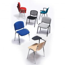 Nordin Shine Conference Chair With Chrome Legs - Red