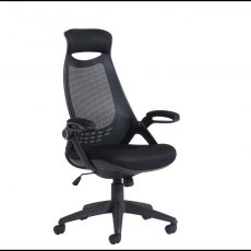 Umara 550 Mesh Back Office Chair With Headrest - Black