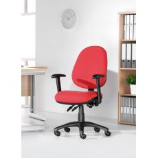 Altiro 470 Fabric Swivel Office Chair With Fixed Arms - Burgundy
