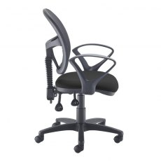 Orlena 260 Mesh Back Fixed Arms Office Chair - Black