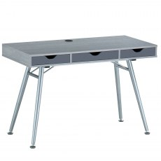 Coley Desk With Three Drawers - Sliver Grey