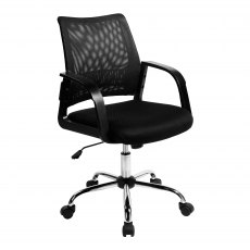 Ludwig Mesh Back Swivel Office Chair - Black