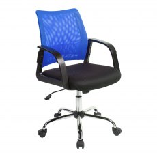 Ludwig Mesh Back Swivel Office Chair - Blue