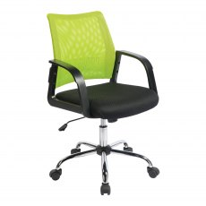 Ludwig Mesh Back Swivel Office Chair - Green