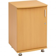 Bowfin Lockable Desktop Extension Cabinet - Beech