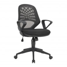 Rem Mesh Back Home Office Chair - Black