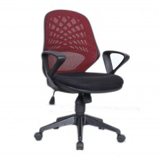Rem Mesh Back Home Office Chair - Red