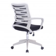 Zebra Swivel Home Office Chair - Black