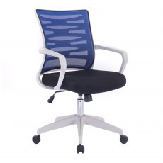 Zebra Swivel Home Office Chair - Blue