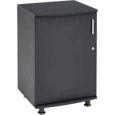 Bowfin Lockable Desktop Extension Cabinet - Graphite Black