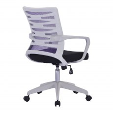 Zebra Swivel Home Office Chair - Purple