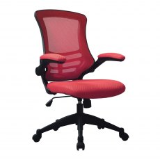 Meir Mesh Back Office Swivel Chair - Red