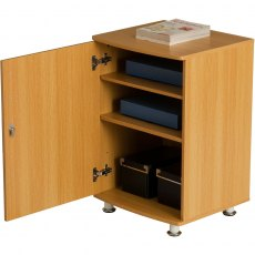 Bowfin Lockable Desktop Extension Cabinet - Oak