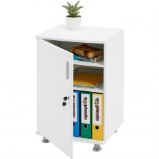 Bowfin Lockable Desktop Extension Cabinet - White