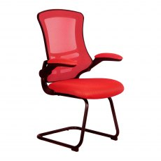Meir Mesh Back Visitors Chair - Red