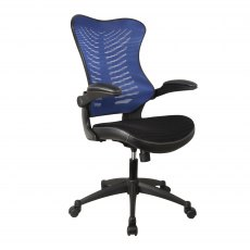 Stride Airflow Mesh Back Office Chair - Blue