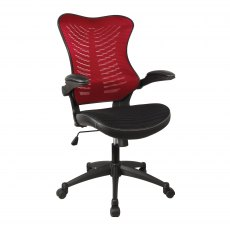 Stride Airflow Mesh Back Office Chair - Red