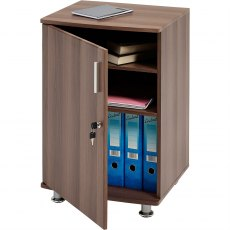 Bowfin Lockable Desktop Extension Cabinet - Dark Walnut