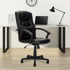 Zaha High Back Executive Office Chair - Black