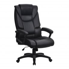 Burnham Executive Home Office Swivel Chair - Black