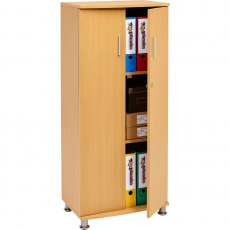 Bonito Tall Lockable Cabinet - Beech