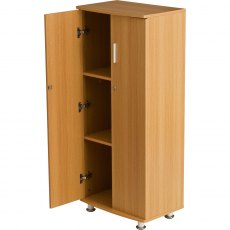 Bonito Tall Lockable Cabinet - Oak