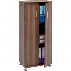 Bonito Tall Lockable Cabinet - Dark Walnut