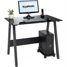 Barbel Compact Glass Desk