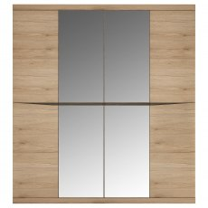 Wanaka Wardrobe with 2 Mirrored Doors