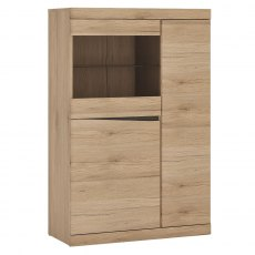Kensington 3 Door Cabinet with Display Window