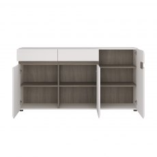 Chelsea Large Sideboard - White