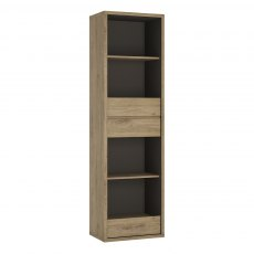 Shetland Narrow Bookcase - Oak