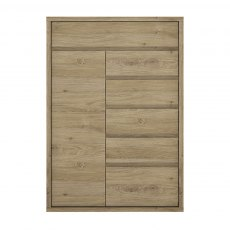 Shetland 6 Drawer Cupboard - Oak