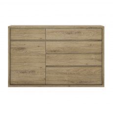 Shetland 5 Drawer Cupboard - Oak