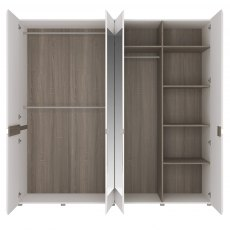 Chelsea 4 Door Mirrored Wardrobe