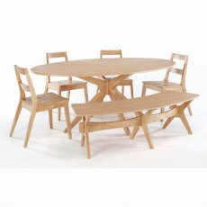 Malmo Dining Table - White Oak