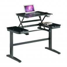 Grenadier Height Adjustable Desk - Graphite Black