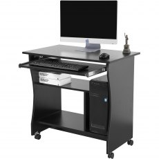 Discus Movable Laptop Desk - Black